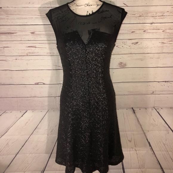Calvin Klein Dresses Black Sequin Dress Size 6 Nwot Poshmark